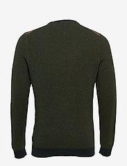 Tommy Hilfiger - MOULINE STRUCTURE CREW NECK - tricots basiques - camo green - 1