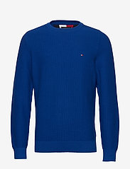Tommy Hilfiger - BOLD TEXTURED COTTON SWEATER - tricots basiques - cobalt - 0