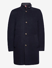 Tommy Hilfiger - STAND UP COLLAR PADDED COAT - wool coats - desert sky - 0