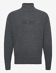 Tommy Hilfiger - LH COZY TURTLE NECK - basic knitwear - coal - 0