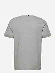 Tommy Hilfiger - JACQUARD COLLAR TEE - t-shirts basiques - medium grey heather - 1