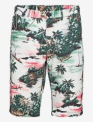 Tommy Hilfiger - HMPTN AOP HAWAIIAN SHORT - casual shorts - summer sunset - 0