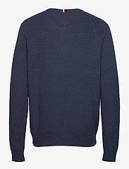 Tommy Hilfiger - STRUCTURE CREW NECK - knitted round necks - faded indigo - 1