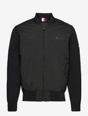 Tommy Hilfiger - MIX MEDIA BOMBER - bomber jackets - black - 0