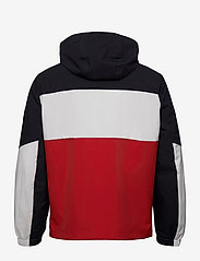 Tommy Hilfiger - TECH GLOBAL BLOCK HOODED JACKET - light jackets - desert sky / ecru / primary red - 1