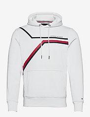 Tommy Hilfiger - SPLIT CORP STRIPE HOODY - hoodies - white - 0
