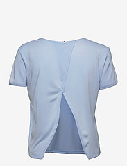 Tommy Hilfiger - RELAXED C-NK OPEN BACK TEE SS - t-shirts - sweet blue - 1
