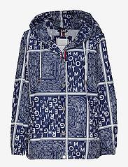 Tommy Hilfiger - SUKI PACKABLE WINDBR - vestes legères - scarf prt ow / medieval blue - 0