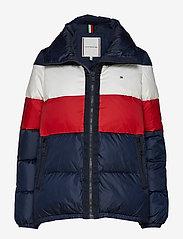 Tommy Hilfiger - NAOMI RECYCLED DOWN JKT - padded jackets - rwb colour block - 0
