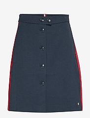 Tommy Hilfiger - DIANA MINI A-LINE SK - jupes courtes - sky captain - 0