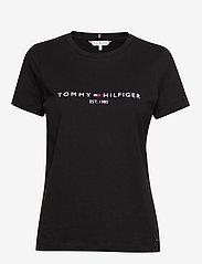 Tommy Hilfiger - NEW TH ESS HILFIGER - logo t-shirts - black - 0
