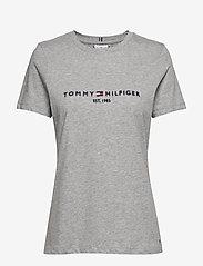 Tommy Hilfiger - NEW TH ESS HILFIGER - logo t-shirts - light grey heather - 0