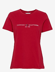 Tommy Hilfiger - NEW TH ESS HILFIGER - logo t-shirts - primary red - 0
