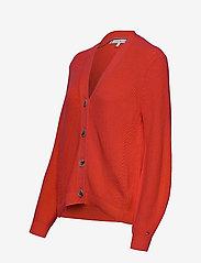 Tommy Hilfiger - HAYANA V-NK CARDI - cardigans - bright vermillion - 2