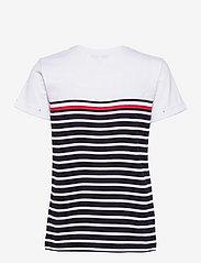 Tommy Hilfiger - GLB STP REGULAR ROUND-NK TOP SS - t-shirts - eng global st/ desert sky - 1