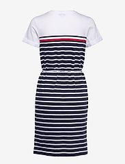 Tommy Hilfiger - BALOU REGULAR C-NK DRESS SS - midi kjoler - eng stp gs  desert sky - 1