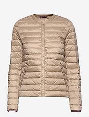 Tommy Hilfiger - BELLA LW DOWN COLLAR - padded jackets - medium taupe - 0