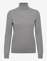 RECYCLED CASHMERE ROLLNK SWEATER - MEDIUM GREY HEATHER