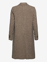 Tommy Hilfiger - DB WOOL BLEND PATTERN COAT - wool coats - amelie blazer chk large beige - 1