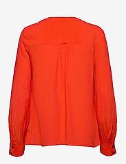 Tommy Hilfiger - ALLYN POP OVER LS BLOUSE - long sleeved blouses - oxidized orange - 1