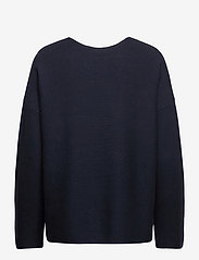 Tommy Hilfiger - ORG CO TEXTURE V-NK SWEATER - sweaters - desert sky - 1