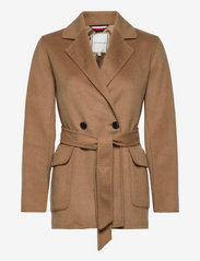 Tommy Hilfiger - WOOL BLEND DF HIP LENGTH COAT - winter coats - countryside khaki - 0