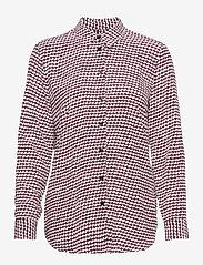 Tommy Hilfiger - VISCOSE FLEUR BLOUSE LS - long sleeved blouses - court geometric / raspberry juice - 0
