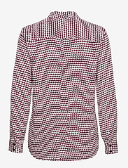Tommy Hilfiger - VISCOSE FLEUR BLOUSE LS - long sleeved blouses - court geometric / raspberry juice - 1