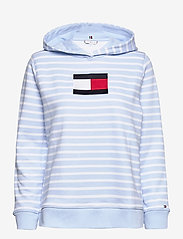 Tommy Hilfiger - ABO REGULAR FLAG HOODIE - sweatshirts & hættetrøjer - classic brenton stp/ breezy blue - 0