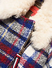 Tommy Hilfiger - TARTAN LONG BIKER JKT - wool jackets - snow white / multi - 2