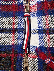 Tommy Hilfiger - TARTAN LONG BIKER JKT - wool jackets - snow white / multi - 3