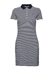 NEW CHIARA STR PQ POLO DRESS SS - BANKER RUGBY   MIDNIGHT 60ac7a7316