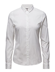 AMY STR SHIRT LS W1 - WHITE