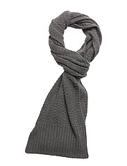 STRUCTURED KNIT SCAR - CHARCOAL HTR
