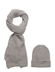 BASIC GIFTPACK SCARF - 039-LIGHT GREY HEATHER