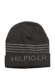 HILFIGER BEANIE - BLACK