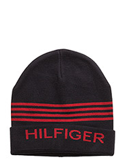 HILFIGER BEANIE - TRUE NAVY HEATHER