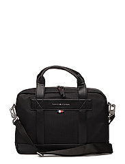 TOMMY TAILORED COMPUTER BAG - BLACK