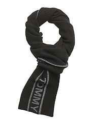 SELVEDGE KNIT SCARF - BLACK