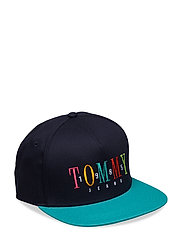 TJM EMBROIDERED CAP, - BLACK IRIS/GREEN
