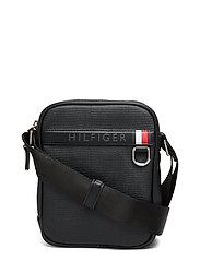 Coated Canvas Mini R Skulderveske Svart TOMMY HILFIGER