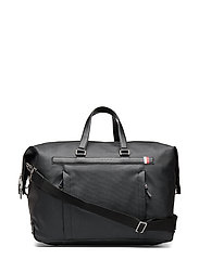Coated Canvas Duffle Bags Weekend & Gym Bags Svart TOMMY HILFIGER