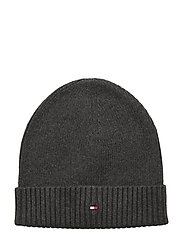PIMA COTTON BEANIE - DARK GREY MELANGE