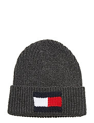 BIG FLAG BEANIE - DARK GREY MELANGE