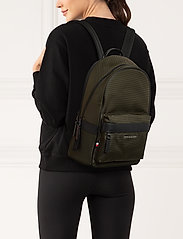Tommy Hilfiger - ELEVATED NYLON BACKPACK - backpacks - camo green - 0