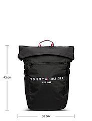 Tommy Hilfiger - TH ESTABLISHED ROLLTOP BACKPACK - bags - black - 5