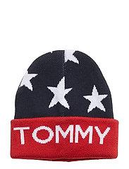 SEASONAL STAR BEANIE - TOMMY NAVY