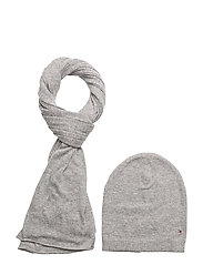 NEW ODINE SCARF&BEAN - LIGHT GREY HEATHER BC04 - VOL3