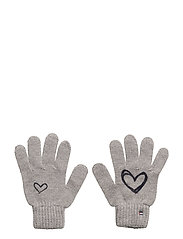 SCRIBBLE HEART GLOVE - MID GREY MELANGE