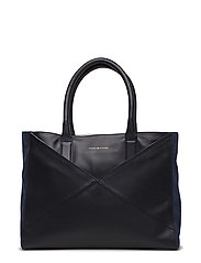 GEO BLOCK LEATHER TO - TOMMY NAVY